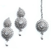 INDIAN JEWELRY TIKKA SET RANE SET