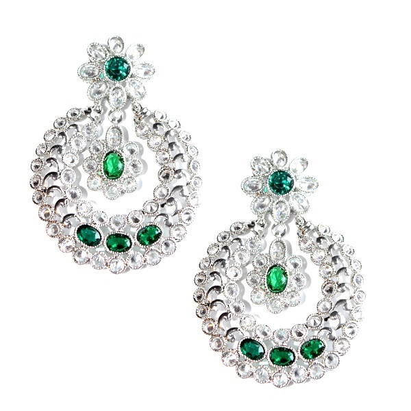 INDIAN JEWELRY EARRINGS DHRITI GREEN