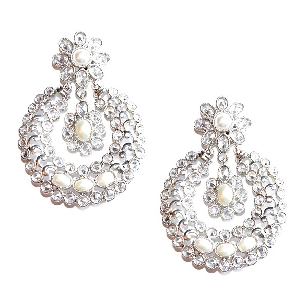 INDIAN JEWELRY EARRINGS FULLAN PEARL