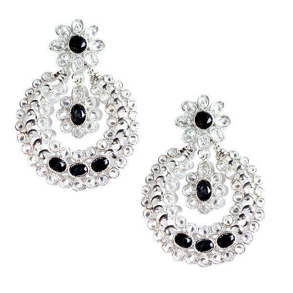 INDIAN JEWELRY EARRINGS KABERI BLACK