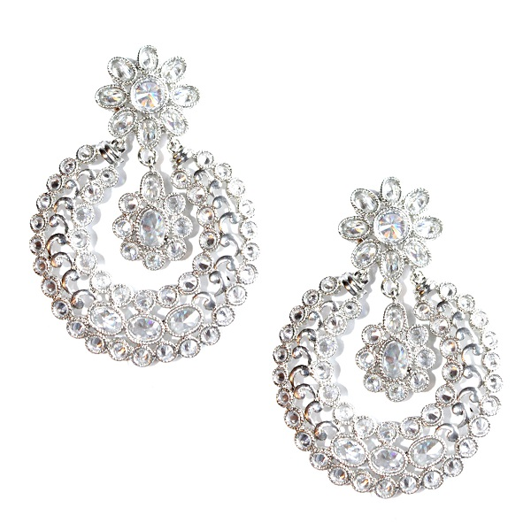 INDIAN JEWELRY EARRINGS OFIRA CLEAR