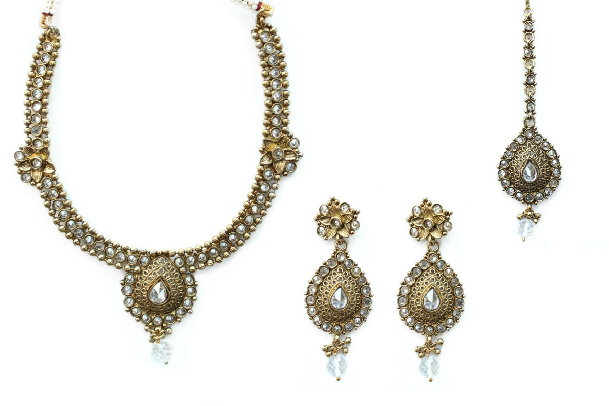 INDIAN JEWELRY NECKLACE SET PASHA