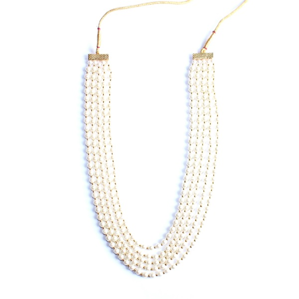 indian jewelry pearl necklace with gold ragi