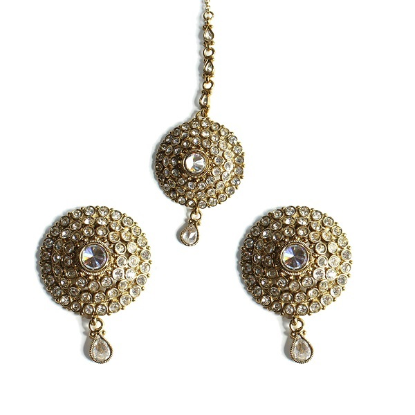 indian jewelry tikka set adrika
