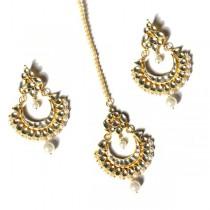 indian jewelry kundan tikka set nalika