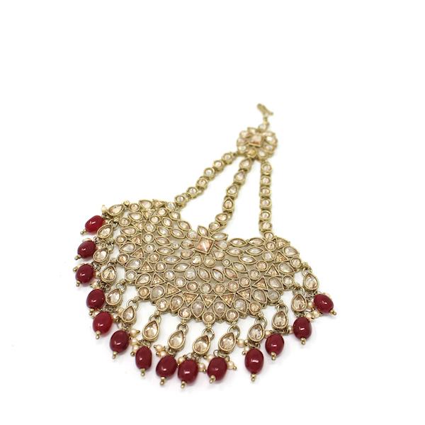 Artificial Indian Pakistani Jewelry Hiran Jhoomar Passa Polki Reverse Diamond Stones