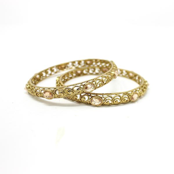 Indian Jewelry Antique Gold Bangles Kada