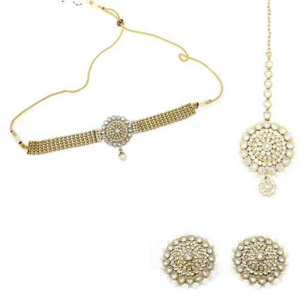 Indian Jewelry Choker Set Bezetha