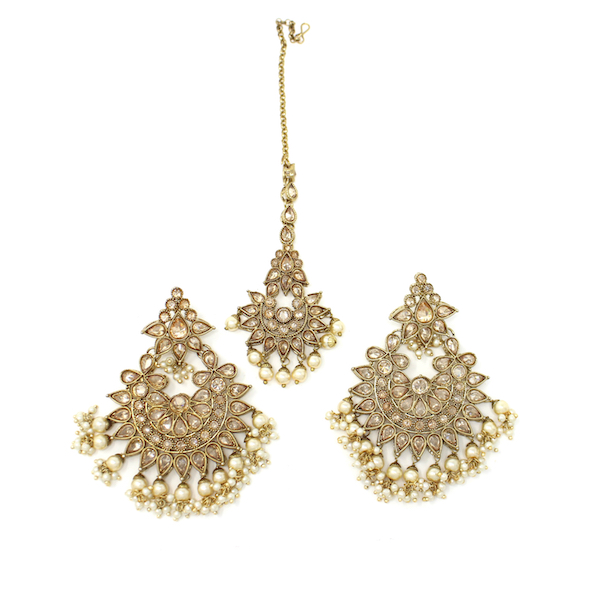 Indian Jewelry Earring Tikka Set Binnaz