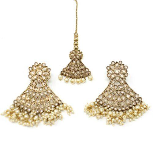 Indian Jewelry Earring Tikka Set Chitrani
