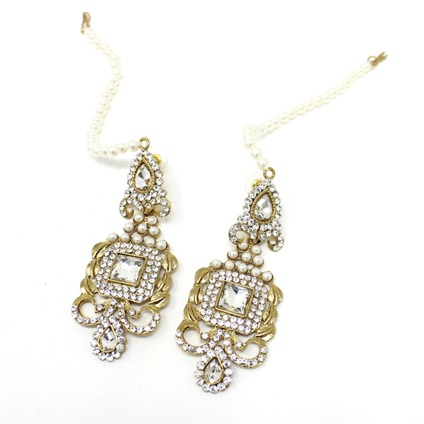 Indian Jewelry Choker Set Necklace Set Pearl Stones Anais