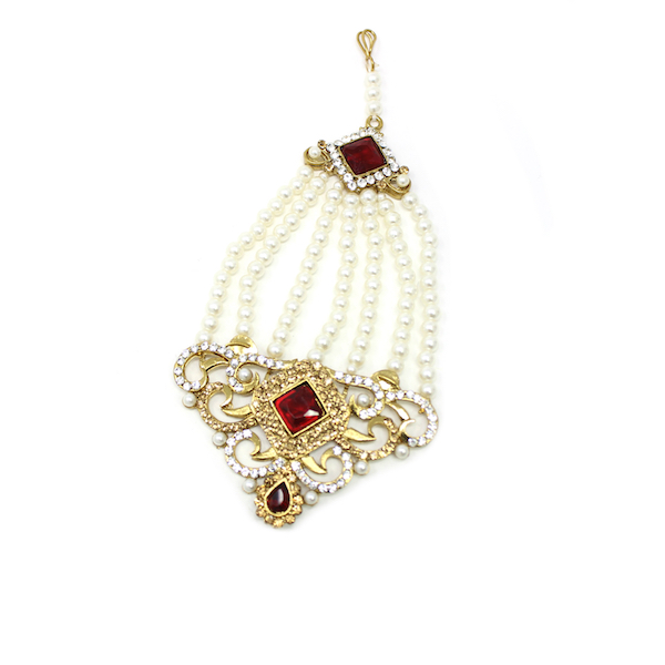 Indian Jewelry Choker Set Necklace Set Pearl Stones