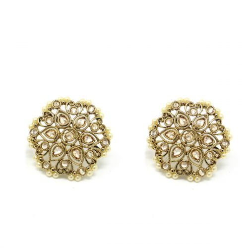 Indian Jewelry Polki Stud Tops Earrings