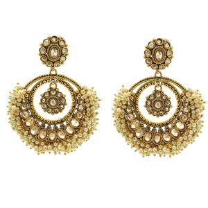 Indian Jewelry Kundan Polki Earrings Chaya