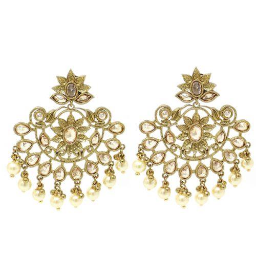 Indian Jewelry Polki Earrings