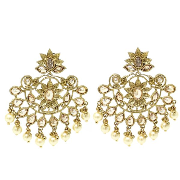 Indian Jewelry Polki Earrings