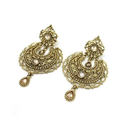 Indian Jewelry Antique Gold Polki Earrings