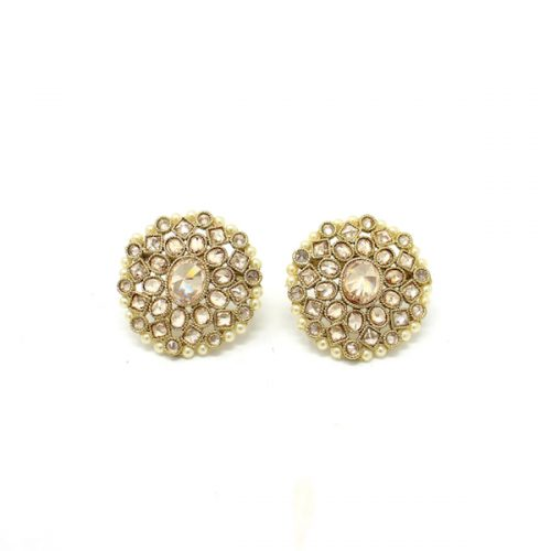 Indian Jewelry Stud Earrings Antique Gold Rahila