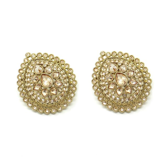 Indian Jewelry Polki Stud Earrings