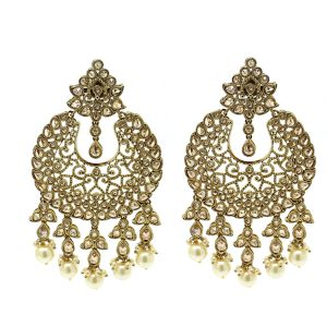 Indian Jewelry Kundan Polki Earrings Tikka Set