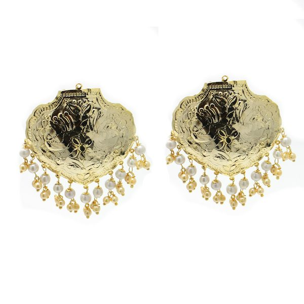 Indian Jewelry Gold Plated Earrings Disho Tikka Set