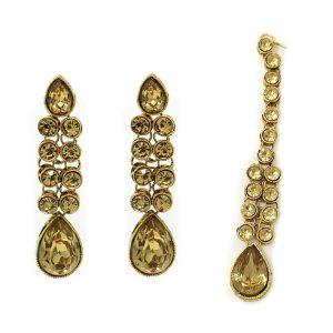 Indian Jewelry Earring Tikka Set