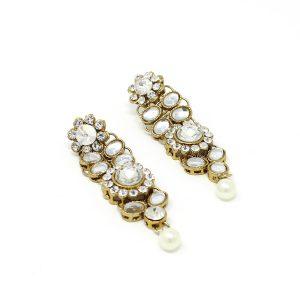 Indian Jewelry Necklace Set Rani Haar Stone Kundan