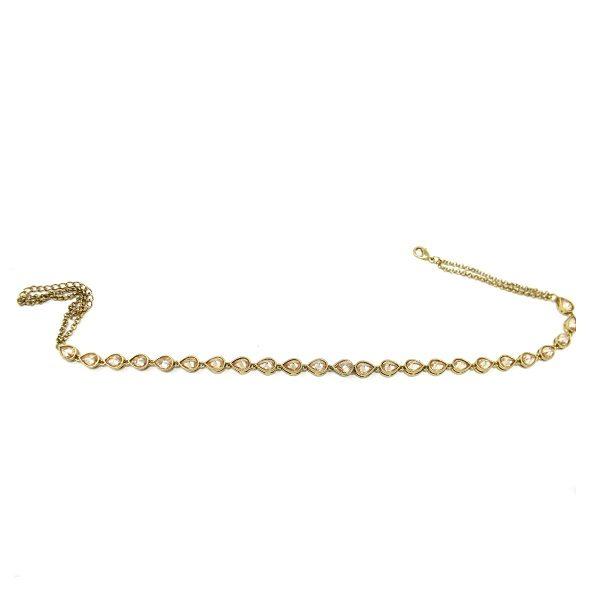 Indian Jewelry Polki Choker Necklace