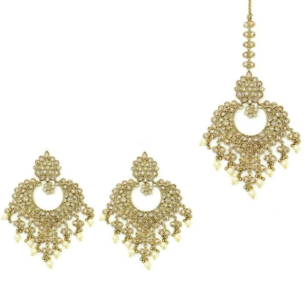 Indian Jewelry Polki Tikka Set