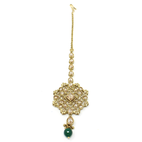 Indian Jewelry Antique Gold Tikka Set