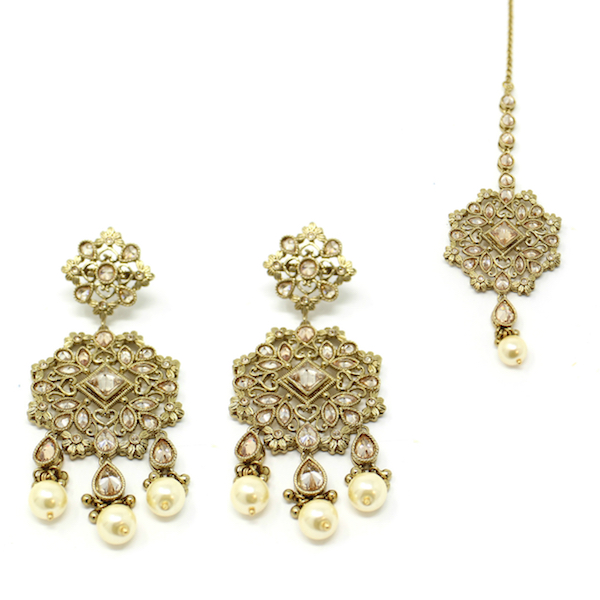Indian Jewelry Antique Gold Tikka Set