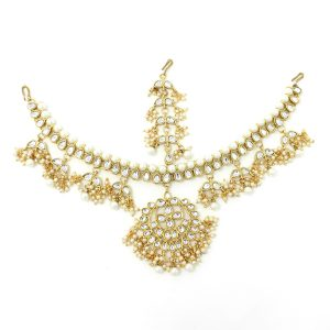 Indian Jewelry Mathapatti Antique Gold Kundan