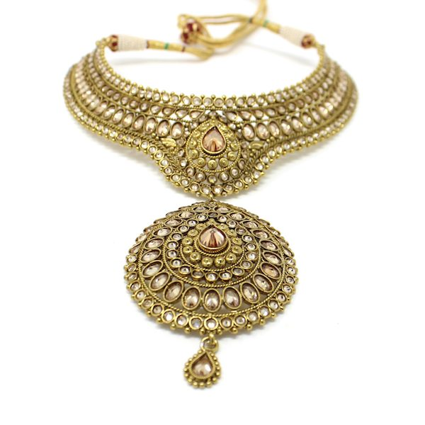 Indian Jewelry Polki Kundan Lipika Earrings Necklace Set
