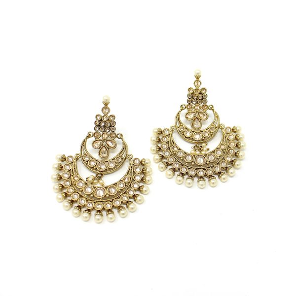 Indian Jewelry Polki Kundan Necklace Set with LCT stones