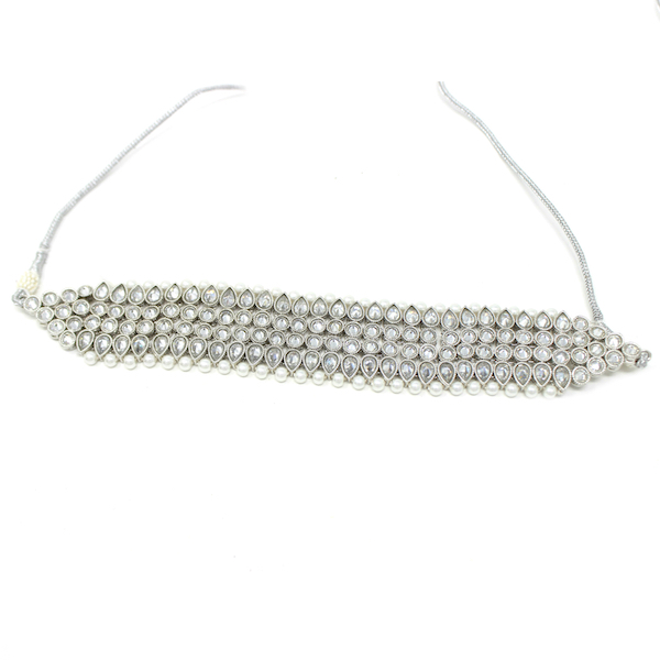 Indian Jewelry Silver Choker Necklace Set