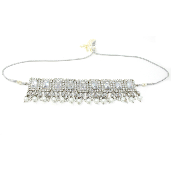Indian Jewelry Silver Necklace Set