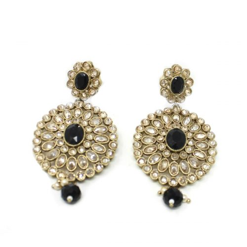 Artificial Polki Indian Jewelry Earrings Stone