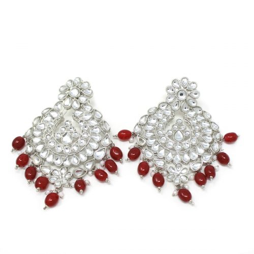 Indian Jewelry Noorie Earrings Tikka Set Silver