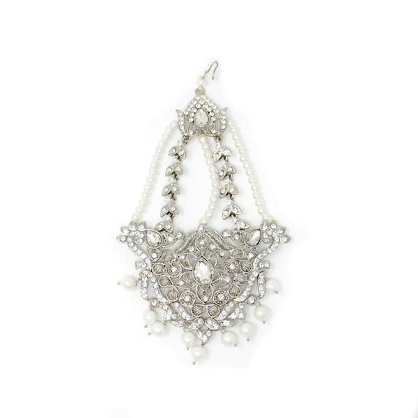 Indian Jewelry Jhoomar Passa Tikka Set