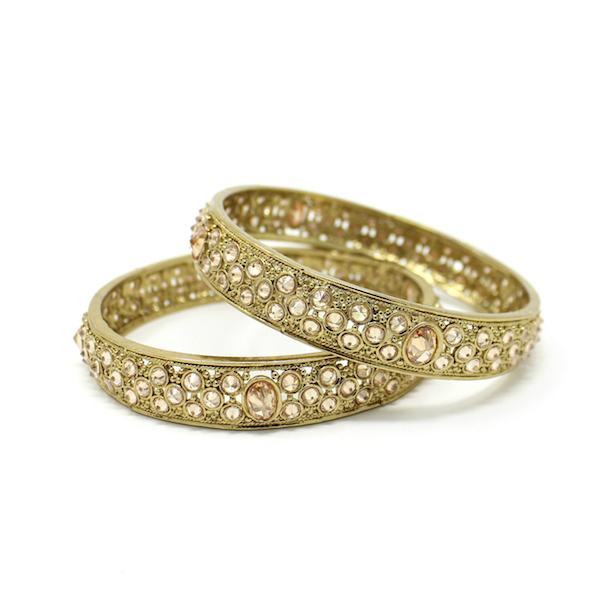 Indian Jewelry Polki Kundan Bangles Antique Gold
