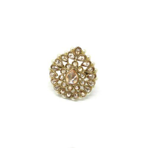 Indian Jewelry Polki Rubina Finger Ring