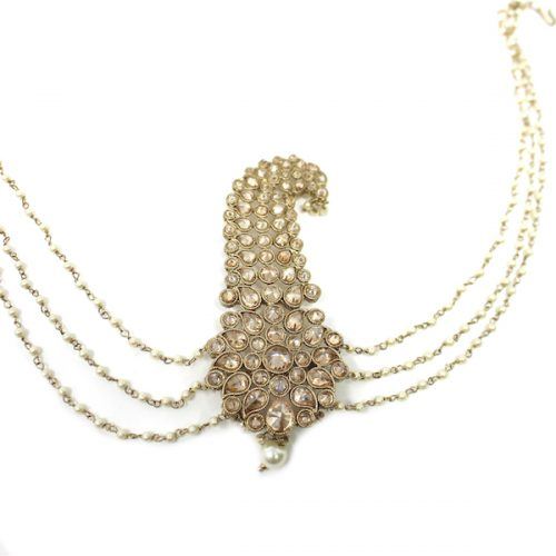 Indian Jewelry Polki Kalgi Turban Pin Antique Gold
