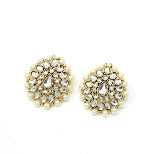 Indian Jewelry Kundan Stud Earrings Asmee