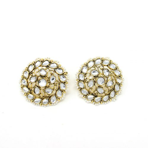 Indian Jewelry Kundan Stud Earrings Daisy