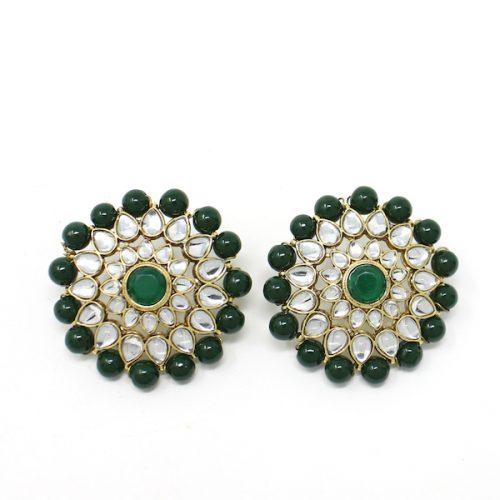 Indian Jewelry Kundan Stud Earrings Sheila