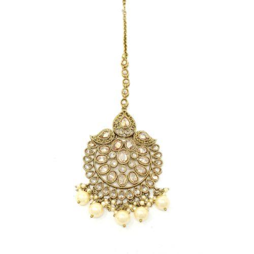Indian Jewelry Antique Gold Polki Tikka Bindi Tika