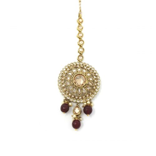 Indian Jewelry Antique Gold Polki Tikka Bindi Tika