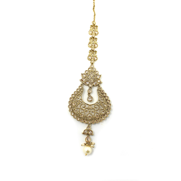 Indian Jewelry Kundan Polki Earrings Tikka Set