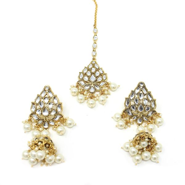 Indian Jewelry Manat Tikka Earring Set