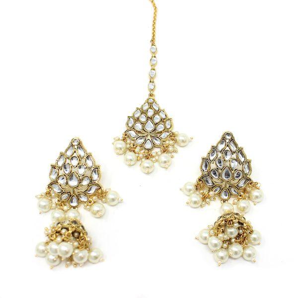 Indian Jewelry Manat Tikka Earring Set